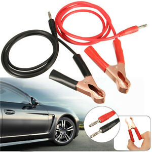 2pcs Banana Plug To 80mm Car Battery Clip Clamp Power Alligator Clips Cable