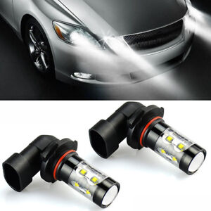 2x Best 6000k White 100w Led 9006 Hb4 Projector Fog Driving Light Bulbs W 10 Led