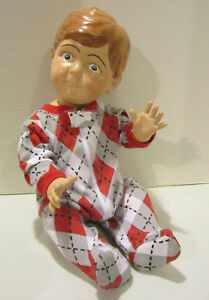 Vintage Life Size 21 Baby Boy Store Mannequin Wears Newborn Size Clothing