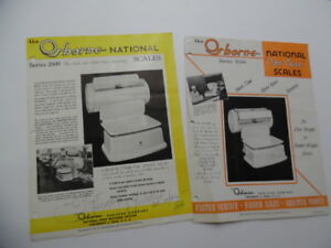 1940s Osborne National Scale Catalog Sheets Series 2600 Angle Read 1600 Top Case