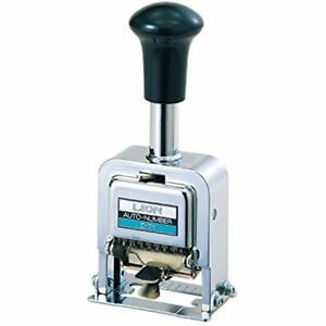 Lion Pro line Heavy duty Automatic Numbering Machine 6 wheel With Alphabet 1