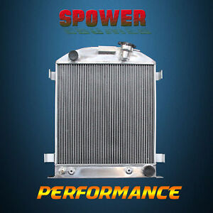 3 Row Core Aluminum Radiator For Ford Chopped Chevy Engine At Mt 1932 62mm