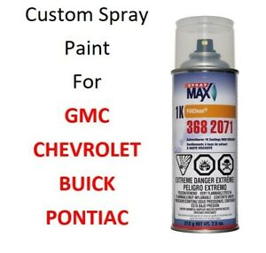 Custom Automotive Touch Up Spray Paint For Chevy Gmc Pontiac Buick