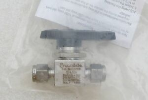 Swagelok 1 4 Tube Stainless Steel Ball Valve Ss 43gs4 New