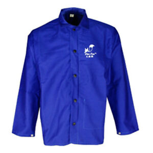 Protective Welding Coat Welding Jacket Welder Clothing Welding Suit M Blue