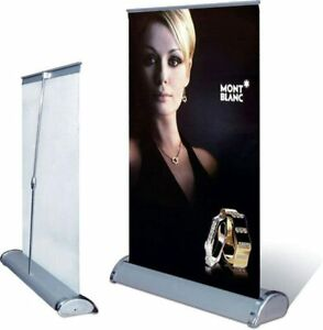 A3 mini Table Top Retractable Trade Show Display Banner Stand 11 X 17