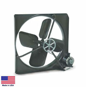 Exhaust Fan Commercial Belt Drive 42 115v 1 2 Hp 2 Speed 14 300 Cfm