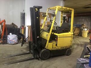 Hyster 4 Wheel Sit Down Forklift 3000lb Capacity 191 Lift Clean 42 Forks hd