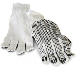 156 Pair Pvc Polka Dot Gloves Single Side Work Safety Dotted Men