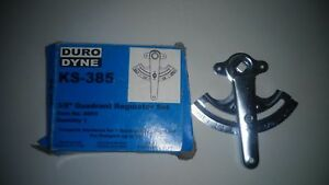 Duro Dyne Ks 385 3 8 Quadrant Regulator Set Item 8051