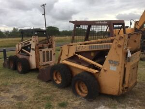 Two Case 1845 Skid Steer Parts Machines