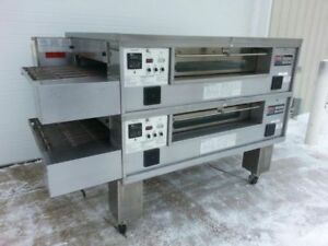 Middleby Marshall Ps570g Double Deck Conveyor Pizza Oven excellent Condition