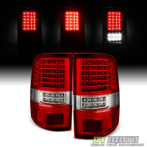 2004 2008 Ford F150 Red Clear Full Led Tail Lights Brake Lamps 04 08 Left Right