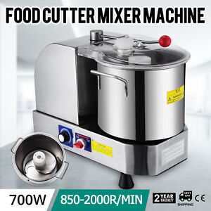 Stainless Steel Food Cutter Mixer Machine 6l 700w Meat Reliable High Reputation
