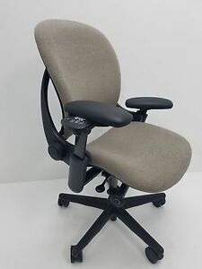 Steelcase Leap V1 Ergonomic Task Chair In Nickel canzone Fabric Fully Loaded