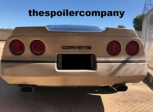 Unpainted C4 Wickerbill Inspired Rear Spoiler For 1984 1990 Chevy Corvette C4