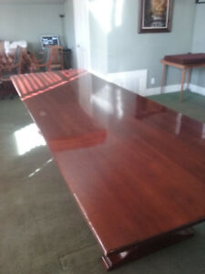 Solid Walnut Executive Conference Table