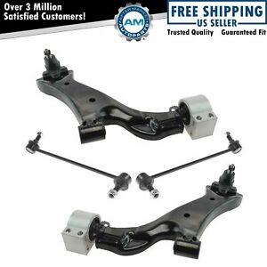 4 Piece Suspension Kit Control Arms W Ball Joints Brackets Sway Bar Links New