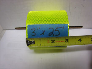 Neon Yellow Reflective Conspicuity Tape 3 X 25 Feet