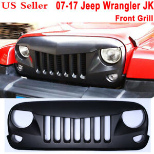 Anger Eyes Front Grill Grille Grid Fit Jeep Wrangler Jk 2 Door 4 Door Unlimited
