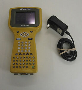 Topcon Fc 2000 Data Collector For Surveying Total Station One Month Warranty