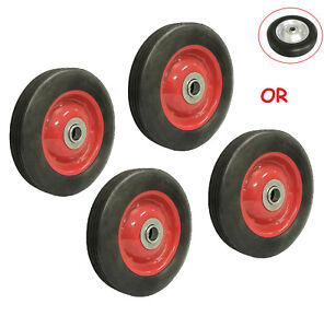 4pc 6 Solid Hard Rubber Tire For Dolly Hand Cart 5 8 Axle Hole