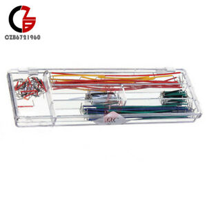 140pcs Solderless Breadboard Jumper Cable Wire Kit Box Diy Shield For Arduino Ne