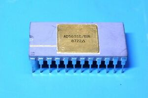 Analog Devices Ad563sd bin 12 bit A d Converter Gold Ceramic New Old Stock