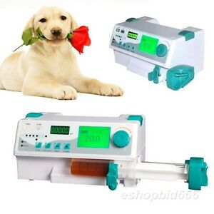 Veterinary Vet Injection Infusion Syringe Pump W Alarm Kvo drug Library bolus Ce