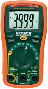 Manual Multimeter Ncv 4000 Extech Instruments Auto Ranging Temp Rubber Holster