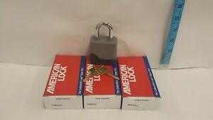Lot Of 3 American Lock A20cov Weatherbuilt Padlock 1 1 8 Shackle Steel