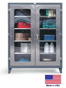 Stainless Steel Cabinet Commercial industrial View Window 66 H X 24 D X 48 W