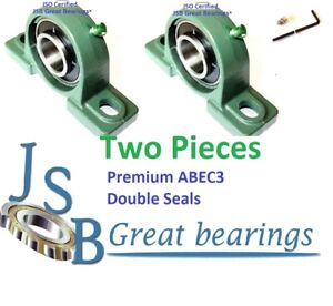 q 2 Premium Ucp213 40 Double Seal Abec3 Pillow Block Bearing 2 1 2 Bore Ucp213
