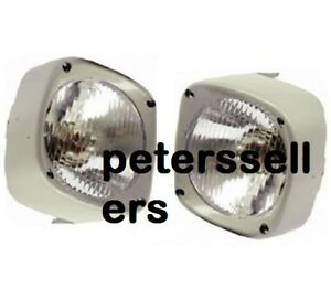 Head Light Lamp With Cowl Pair Lh Rh Massey Ferguson Tractor 135 165 185