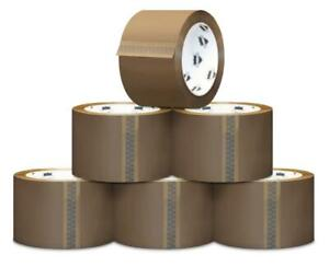 180 Rolls Tan Packaging 1 8 Mil Packing Moving Box Carton Sealing Tape 2 x 110