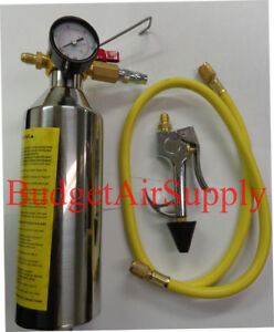 Hvac Flush Kit ez Squeeze Trigger Handle hoses And Mixing Can W Pressure Gauge