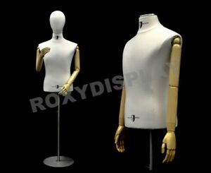 Male Shirt Hard Foam Dress Form With Arms And Head jf 33m01arm bb bs 04