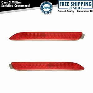 Rear Bumper Mounted Reflector Pair Set Of 2 Kit For Rx300 Gx470 Matrix Sienna