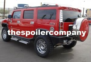 Painted Rear Spoiler For 2003 2009 General Hummer H2 Suv Made In The Usa