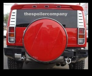Un painted Rear Spoiler For 2003 2009 General Hummer H2 Suv Made In The Usa