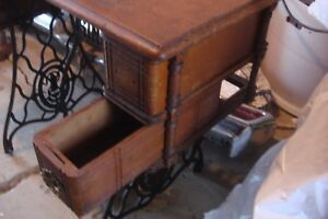 W Lot 4 Antique Singer Treadle Sew Machine Drawers W Frames No Handles