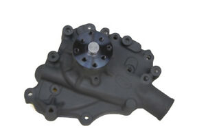Competition Circle Track Ford 302 351w Aluminum Water Pump Ceramic Black Finish