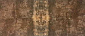 Exotic Walnut Burl Wood Veneer Raw unbacked 4 Pc Pack 16 X 36 Total