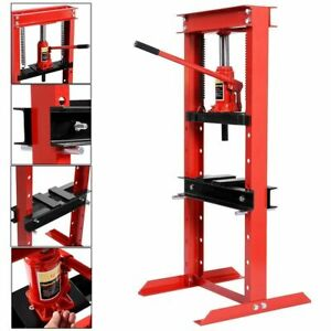 12 Ton Shop Press Floor H frame Press Plates Hydraulic Jack Stand Equipment