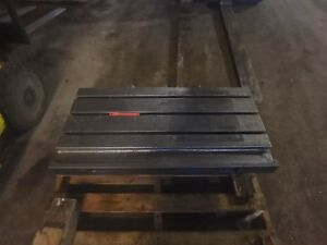 39 25 X 21 25 X 4 Steel Weld T slot Table Cast Iron Layout 3 Slot Jig