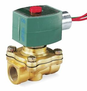 Asco 220 240vac Brass Solenoid Valve Normally Closed 3 8 Pipe Size 8210g001