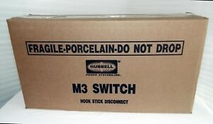 1 New Hubbell Pwr System M3 Hook Stick Disconnect Switch M3d62a 15 5 Kv 600 Amp