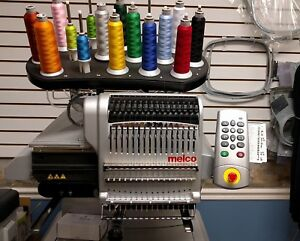 Two Melco Amaya Commercial Embroidery Machines And Software