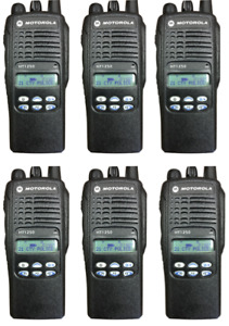 Motorola Ht1250 Portable Aah25sdf9aa5an uhf 450 512 128 Ch Ltd Key 6 Unit