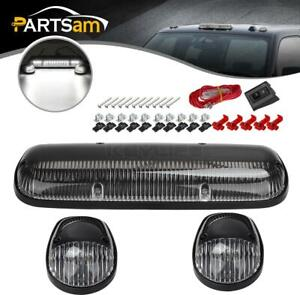 3x264155cl Clear white 30 Led Cab Roof Top Marker Lights For Chevrolet gmc 02 07